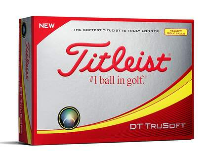Titleist 2017 DT TruSoft Yellow Golf Balls
