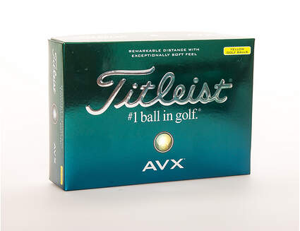 Titleist AVX Yellow Golf Balls