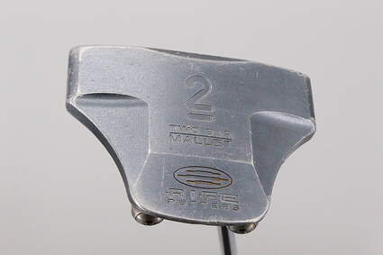 Guerin Rife Two Bar Mallet Offset Putter Stock Steel Shaft Steel Right Handed 33.5 in