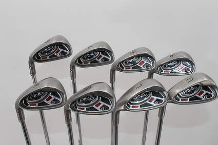 Ping G15 Iron Set 6-PW GW SW LW Ping AWT Steel Regular Left Handed 37.5in