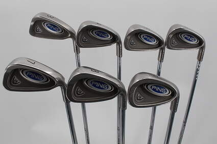 Ping i5 Iron Set 3-9 Iron True Temper Dynamic Gold S300 Steel Stiff Right Handed Green Dot 38.0in