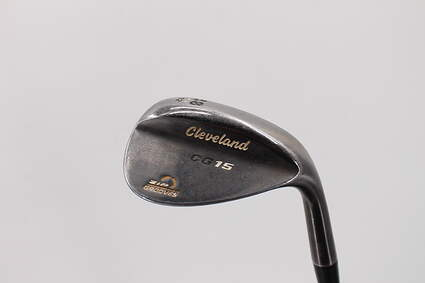 Cleveland CG15 Black Pearl Wedge 58° 12 Deg Bounce Stock Steel Shaft Steel Wedge Flex Right Handed 35.5in