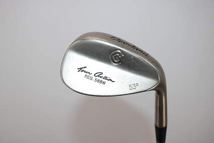 Cleveland 588 Tour Satin Chrome Wedge Gap GW 53° Stock Graphite Shaft Graphite Ladies Right Handed 35.0in