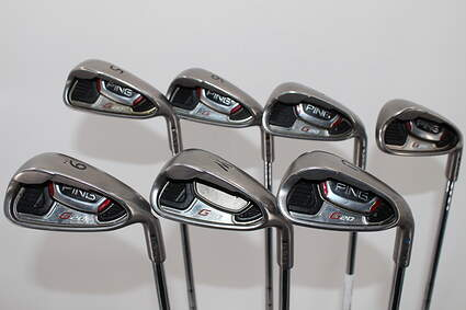 Ping G20 Iron Set 5-PW GW SW Ping CFS Steel Stiff Right Handed 38.0in