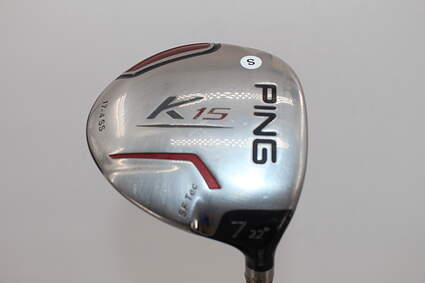 Ping K15 Fairway Wood 7 Wood 7W 22° Graphite Design Tour AD DJ-7 Graphite Stiff Right Handed 41.25in