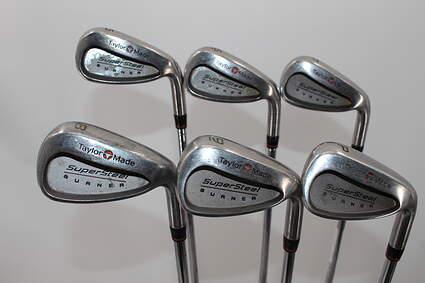 TaylorMade Supersteel Iron Set 5-PW Stock Steel Shaft Steel Stiff Right Handed 38.0in