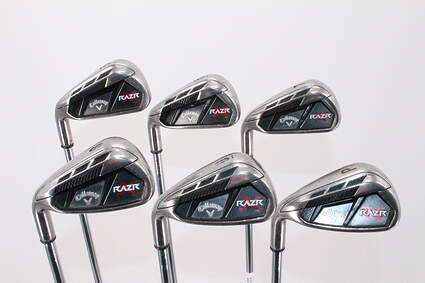 Callaway Razr X Iron Set 5-PW Stock Steel Shaft Steel Uniflex Left Handed 38.0in