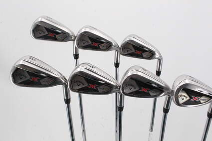 Callaway 2013 X Hot Iron Set 5-GW True Temper Speed Step 85 Steel Right Handed 38.75in