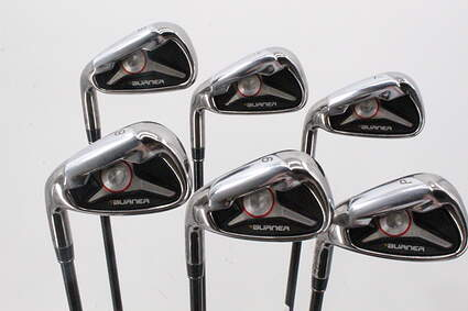 TaylorMade 2009 Burner Iron Set 5-PW TM Reax 65 Graphite Regular Left Handed 38.5in