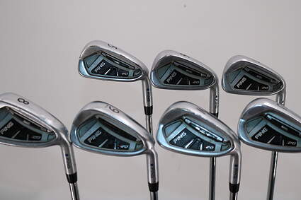 Ping I20 Iron Set 5-PW GW FST KBS Tour Steel Stiff Right Handed Blue Dot 38.25in
