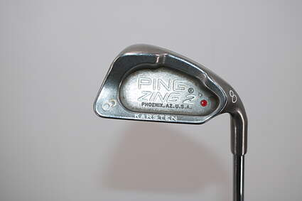Ping Zing 2 Single Iron 8 Iron Stock Steel Shaft Steel Stiff Right Handed Red dot 36.5in