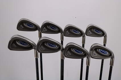 Ping i5 Iron Set 3-PW Stock Graphite Shaft Graphite Stiff Right Handed 38.0in