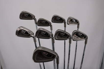 Ping i3 Blade Iron Set 3-PW GW Stock Steel Shaft Steel Stiff Right Handed Orange Dot 38.0in