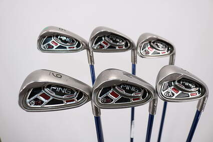 Ping G15 Iron Set 6-PW SW Project X 4.5 Graphite Graphite Senior Right Handed White Dot 37.5in