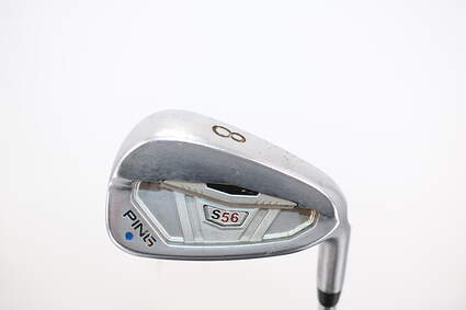 Ping S56 Single Iron 8 Iron Stock Steel Shaft Steel Stiff Right Handed Blue Dot 36.5in