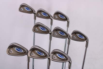 Ping i5 Iron Set 3-LW Ping AWT Steel Stiff Right Handed Green Dot 38.0in