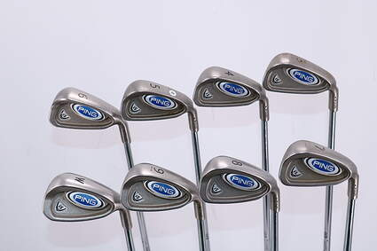 Ping i5 Iron Set 3-PW Stock Steel Shaft Steel Stiff Right Handed Black Dot 38.0in