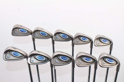 Ping i5 Iron Set 4-PW SW LW Stock Steel Shaft Steel Stiff Right Handed Green Dot 38.0in