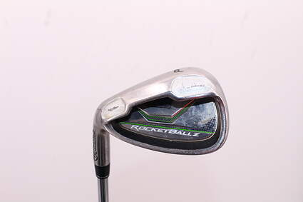 TaylorMade Rocketballz HL Single Iron Pitching Wedge PW Stock Steel Shaft Steel Stiff Left Handed 36.0in