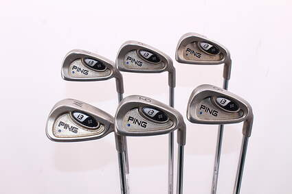 Ping i3 + Iron Set 5-PW Stock Steel Shaft Steel Stiff Right Handed Blue Dot 37.75in