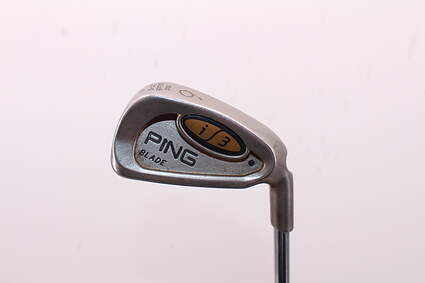 Ping i3 Blade Single Iron 6 Iron Stock Steel Shaft Steel Stiff Right Handed Black Dot 37.5in
