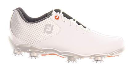 New Mens Golf Shoe Footjoy DNA Helix Wide 12 White/Orange 53316 MSRP $210