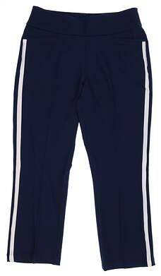 New Womens Adidas Cropped Pants Medium M Navy Blue MSRP $80 DQ2139