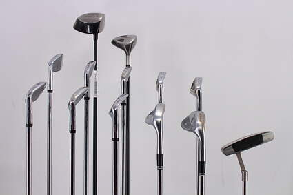 Mens Complete Golf Club Set Right Handed Stiff Flex Ping Driver Wilson Irons Odyssey Putter RH MSRP $ 1799