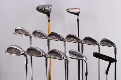 Mens Complete Golf Club Set Right Handed Stiff Flex Titleist Driver TaylorMade Ping Irons Putter RH MSRP $ 1799