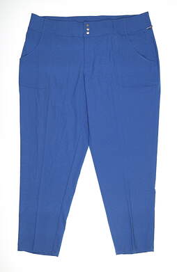 New Womens Jo Fit Belted Cropped Pants 16 Blue MSRP $102 GB610-DNM
