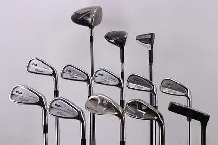Mens Complete Golf Club Set Right Handed Stiff Flex Callaway Driver TaylorMade Wedges Putter RH MSRP $1799