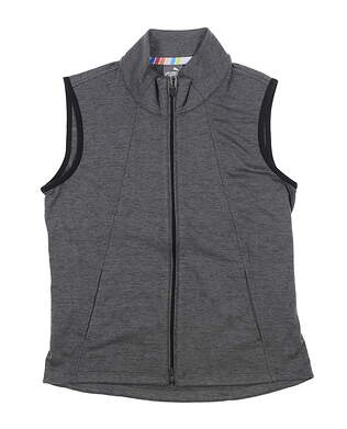 New Womens Puma Warm Up Golf Vest Small S Gray 595852 MSRP $70