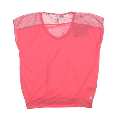 New Womens Puma Slouchy T-Shirt Small S Rapture Rose 595839 01 MSRP $50