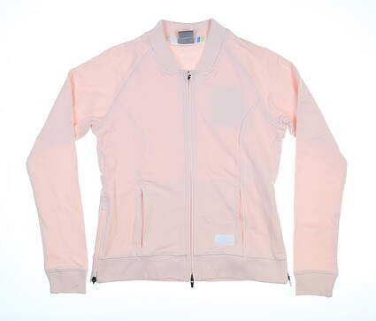 New Womens Puma Bomber Jacket Small S Rosewater MSRP $70