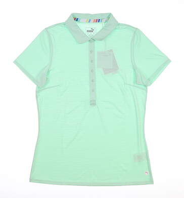 New Womens Puma Daily Golf Polo Small S Mist Green 595826 08 MSRP $60