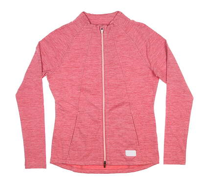 New Womens Puma Warm Up Jacket Small S Rapture Rose MSRP $80