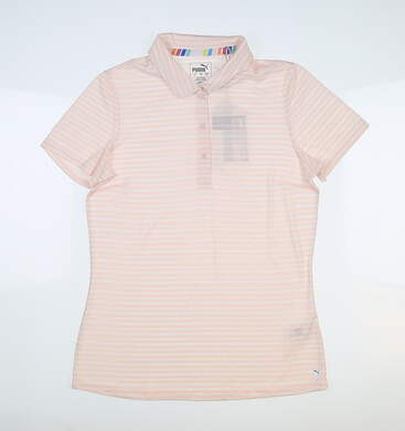 New Womens Puma Drive Golf Polo Small S Rosewater 595820 06 MSRP $60