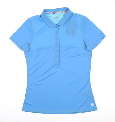New Womens Puma Rotation Golf Polo Small S Ethereal Blue 595822 07 MSRP $50