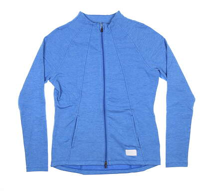 New Womens Puma Warm Up Jacket Small S Blue 595850 MSRP $80
