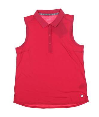 New Womens Puma Flow Sleeveless Polo Small S Azalea 595140 MSRP $55