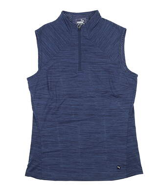 New Womens Puma Daily Golf Sleeveless Polo Small S Peacoat 595829 MSRP $55
