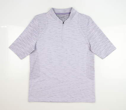 New Womens Under Armour Golf Polo Large L Purple MSRP $70