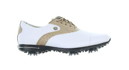 New Womens Golf Shoe Footjoy Tailored Collection Medium 6 White/Brown MSRP $150