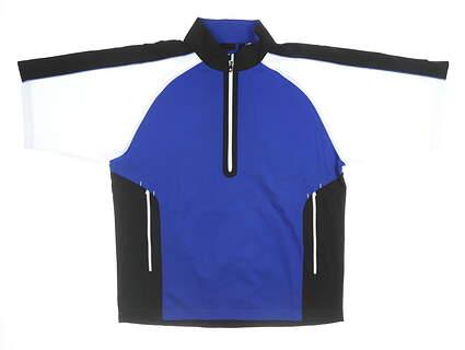 New Mens Footjoy Sport Wind Shirt Large L Blue MSRP $125 32619