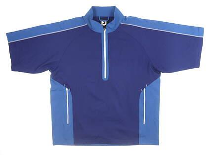 New Mens Footjoy SPort Wind Shirt Large L Blue MSRP $125 32649