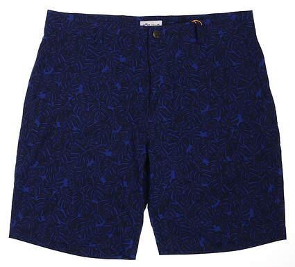 New Mens Peter Millar Golf Shorts 34 Blue MSRP $98 MS19EP04