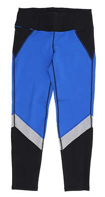 New Womens Footjoy Color Block Leggings Large L Blue/ Black/ Grey MSRP $78 23923