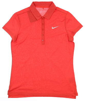 New Womens Nike Golf Polo Medium M Red MSRP $76