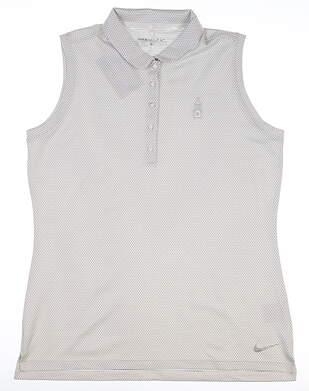 New W/ Logo Womens Nike Golf Sleeveless Polo X-Large XL White MSRP $90 831277