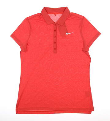 New Womens Nike Golf Polo Large L Red MSRP $76